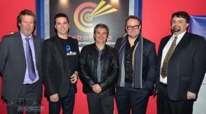 Serge Bourassa, Chris Arsenault, Denis Sirois, Alexandre Taillefer et Martin Duchaine