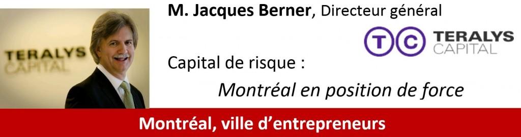 Conférence Jacques Bernier, Teralys Capital